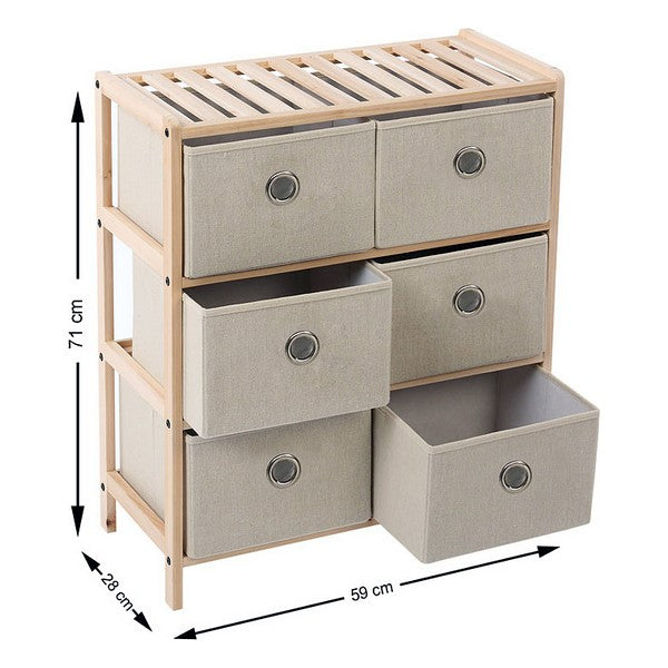 Wooden Chest of Drawers (6 Drawers) 110020