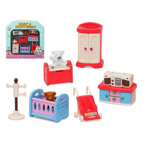 Dolls house Accessories Happy Family Bedroom