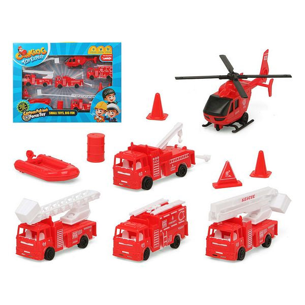 Vehicle Playset Fireman Red 119411