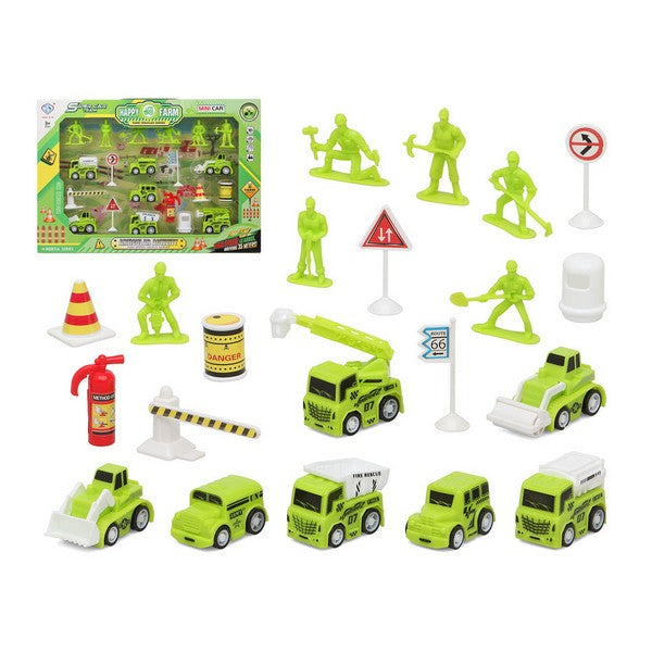 Construction Work Vehicles (Set) Yellow 111148