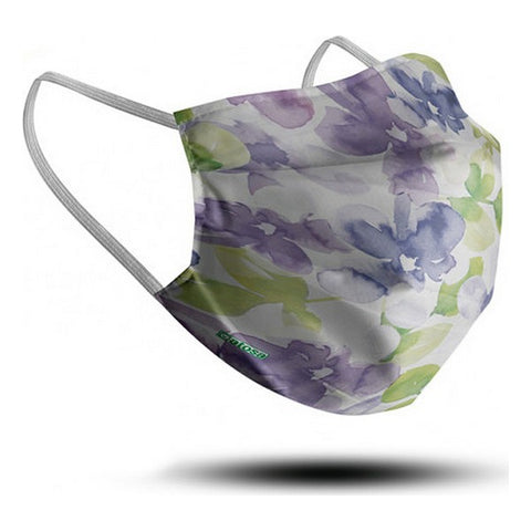 Hygienic Reusable Fabric Mask Flowers Adult