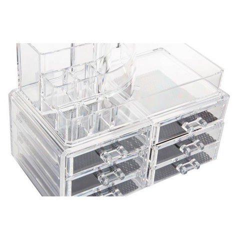 Make-up organizer Dekodonia Transparent Acrylic (24 x 15 x 18 cm)