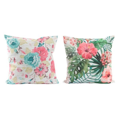 Cushion Dekodonia Polyester Tropical (45 x 45 cm) (2 pcs)