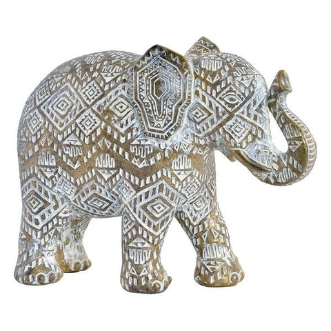 Decorative Figure Dekodonia Resin Elephant (22 x 8 x 16 cm)