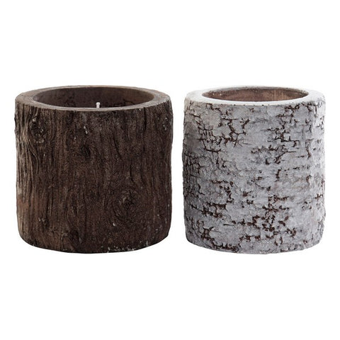 Scented Candle Dekodonia Trunk (2 pcs) (12 x 12 x 11 cm)