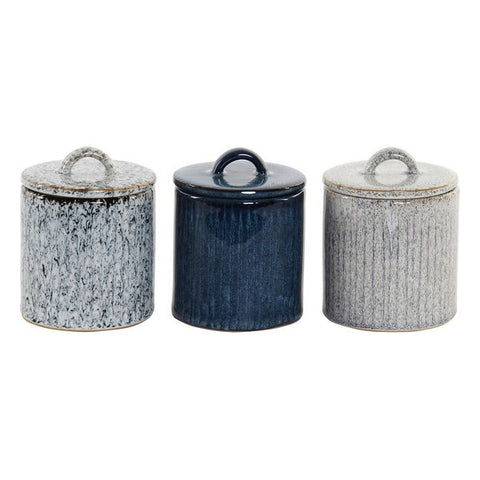 Scented Candle Dekodonia Ceramic With lid (3 pcs) (9 x 9 x 11 cm)
