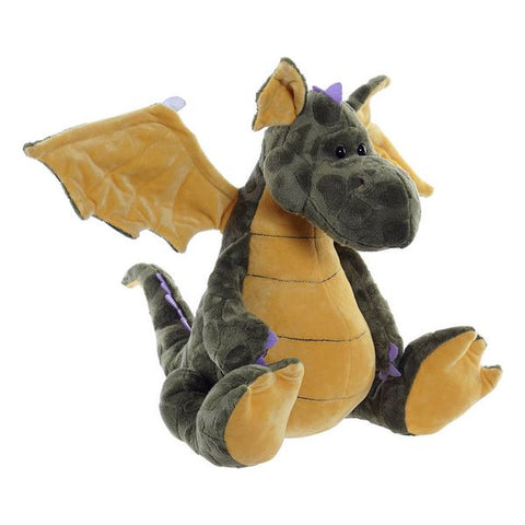 Fluffy toy Dekodonia Dragon Green Polyester (37 x 36 x 32 cm)