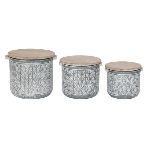 Decorative box Dekodonia Metal Loft (3 pcs)