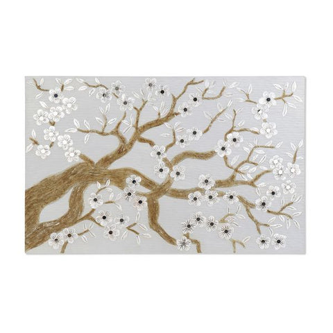 Painting Dekodonia Tree Almond Mother of pearl (122 x 3 x 80 cm)