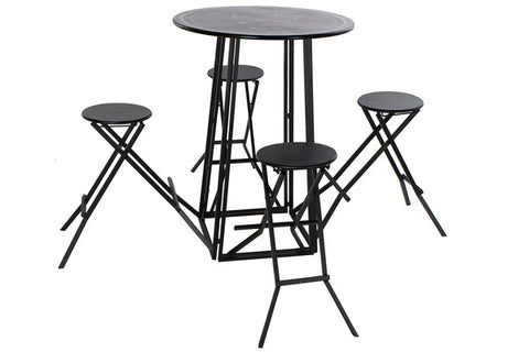 Table set with 4 chairs Dekodonia Metal (5 pcs)