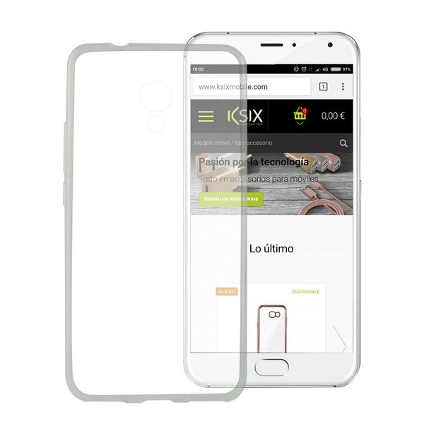 Mobile cover Meizu M5s KSIX Flex TPU Transparent