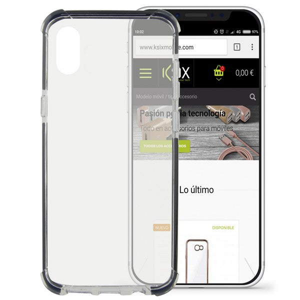 Mobile cover Iphone X KSIX Flex Armor Transparent