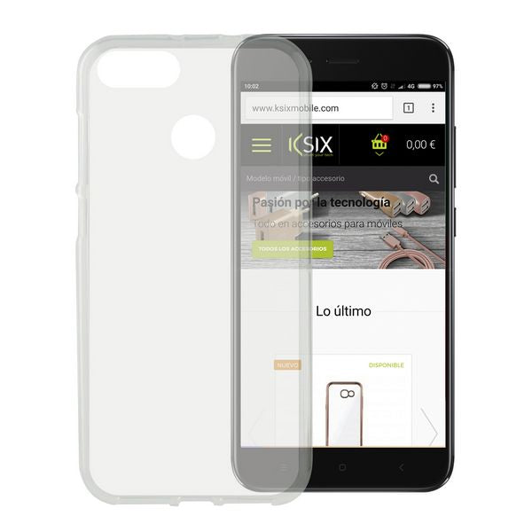 Mobile cover Xiaomi Mi A1 KSIX Flex TPU Transparent