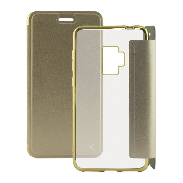 Folio Mobile Phone Case Galaxy S9 KSIX Metal Golden