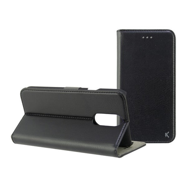 Folio Mobile Phone Case Lg Q7 KSIX Black
