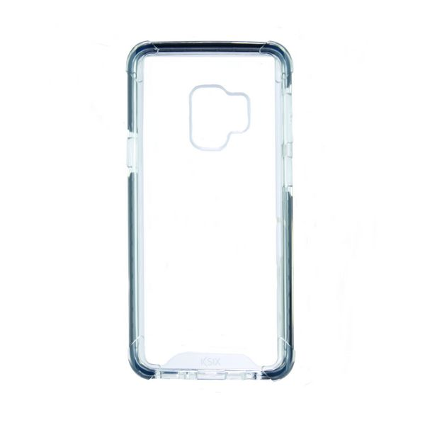 Mobile cover Samsung Galaxy S9 KSIX Flex Armor TPU Polycarbonate Black Transparent