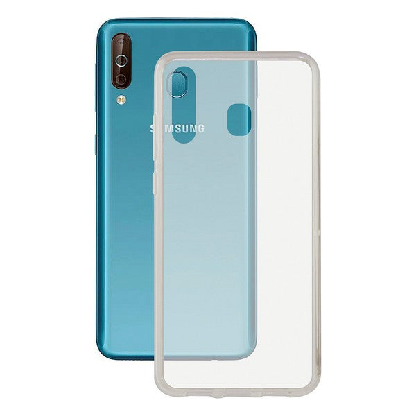 Mobile cover Samsung Galaxy A40s KSIX Flex TPU Transparent