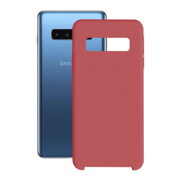 Mobile cover Samsung Galaxy S10+ KSIX Soft Red