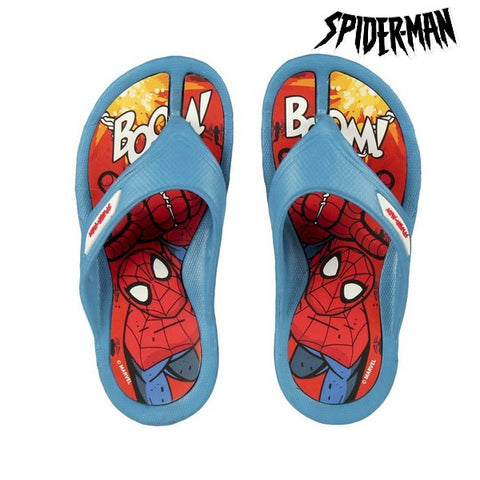 Flip Flops for Children Spiderman Blue