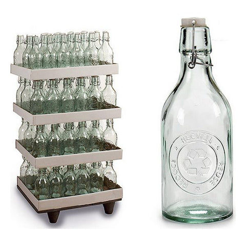 Bottle recycled glass (9,5 x 26,5 x 9,5 cm)