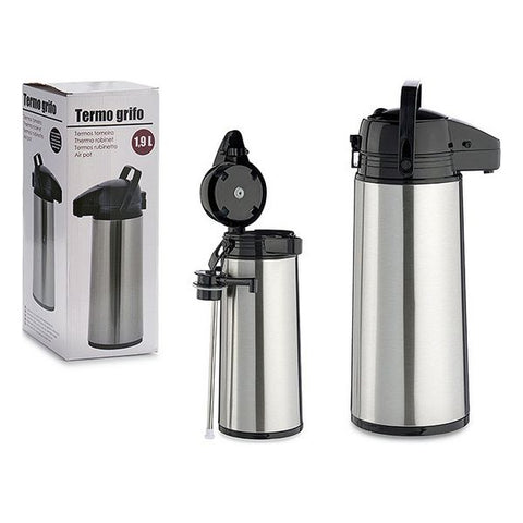 Thermos with Dispenser Stopper Stainless steel (1,9 L)