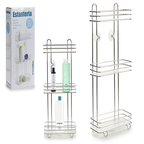 Bathroom Shelves Transparent Plastic (14 x 60 x 27 cm)