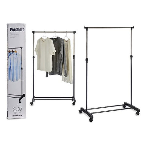 Coat Stand with Wheels Metal (43 x 155 x 80 cm)