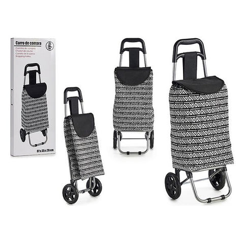 Shopping cart White Black (87 x 35 x 28 cm)