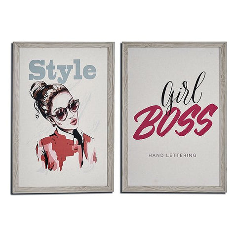 Painting Style - Boss Cream MDF (2 x 66 x 46 cm)