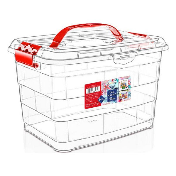 Storage Box with Lid Confortime 14 L