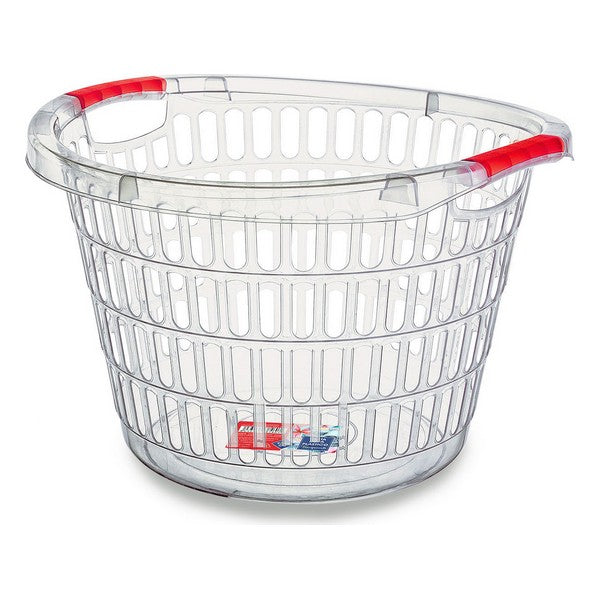 Laundry Basket Confortime Transparent (47 X 32 cm)