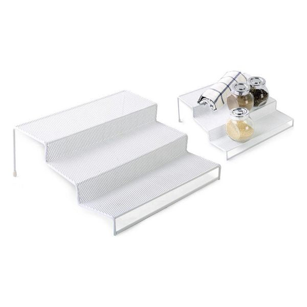 Multi-Purpose Organiser Confortime Metal White (26,5 x 25,5 x 10,5 cm)