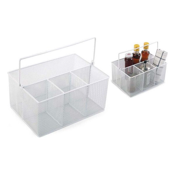 Multi-Purpose Organiser Confortime Metal White (25 X 18 x 12 cm)