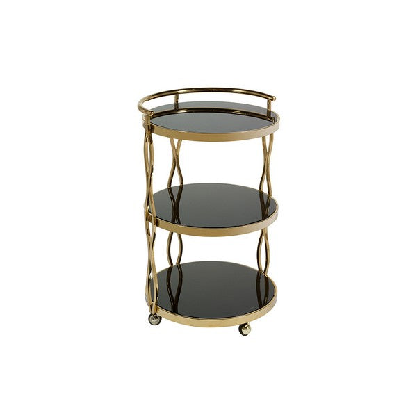 Serving trolley Golden Orbed (50 x 78 x 50 cm)