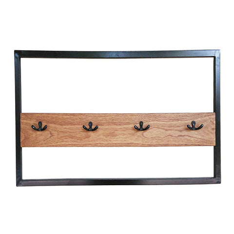 Wall mounted coat hanger Chess Mindi wood (80 x 40 x 5 cm)