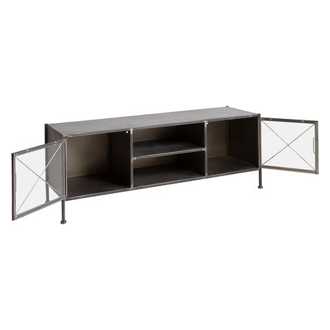 TV furniture Black Crystal Painted iron (131 x 40 x 49 cm)