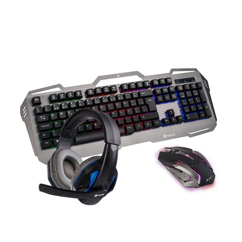 Keyboard with Gaming Mouse NGS GBX-1500