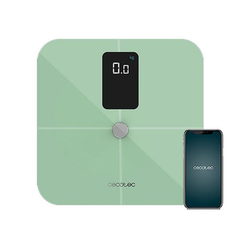 Digital Bathroom Scales Cecotec Surface Precision 10400 Smart Healthy Vision Green