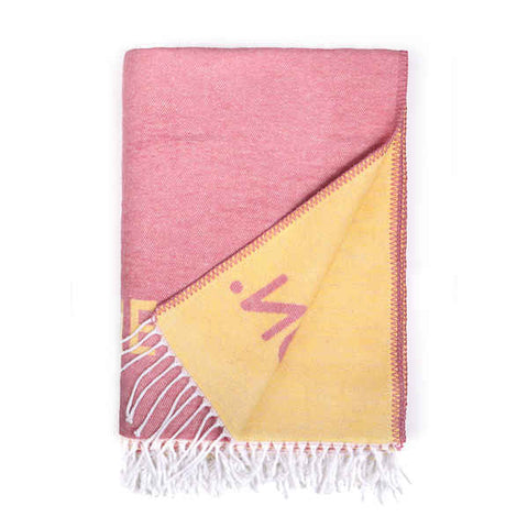 Blanket Benetton Pink Cotton Foam (140 x 190 cm)