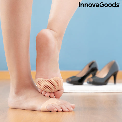 Silicone Gel Metatarsal Pads SilStep InnovaGoods (Pack of 2)