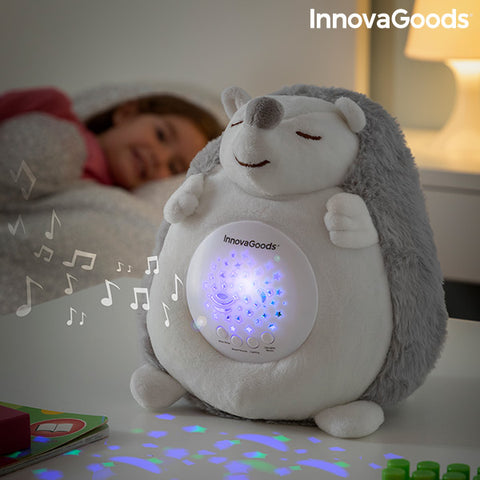 Hedgehog Soft Toy with White Noise and Nightlight Projector Spikey InnovaGoods