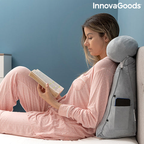 Triangular Reading Pillow with Multi-Position Headrest and Side Pocket Wedlow InnovaGoods