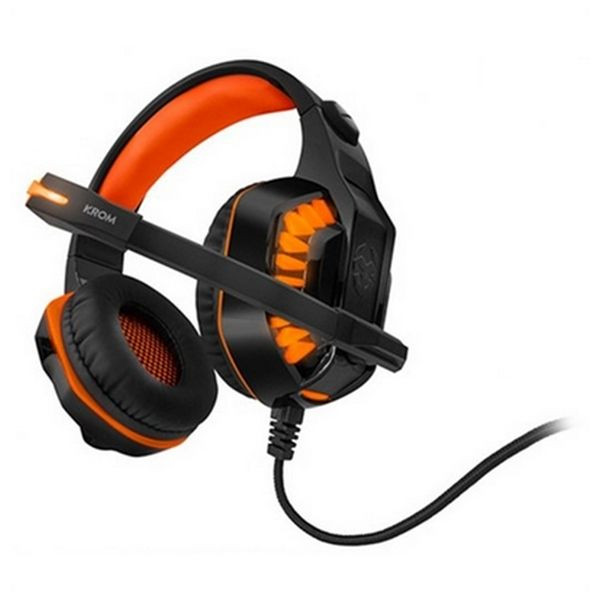 Gaming Headset with Microphone KROM NXKROMKNR Konor Ultimate | Orange/Black