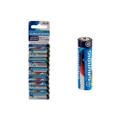 Batteries Grundig AAA RO3 (12 pcs)