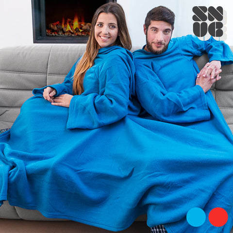 Snug Snug Big Twin Double Blanket with Sleeves for Adults
