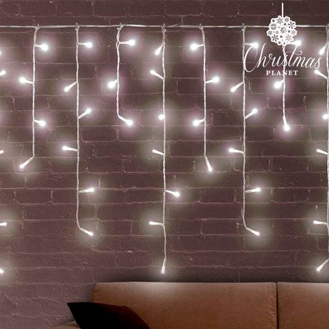 White Icicle Christmas Lights (200 LED)