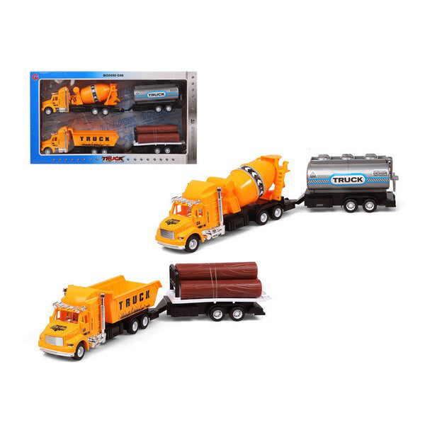 Set of cars Truck public works Yellow 119251 (2 Uds)