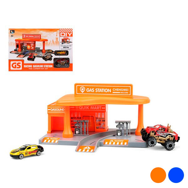Vehicle Playset Racing Gas Station