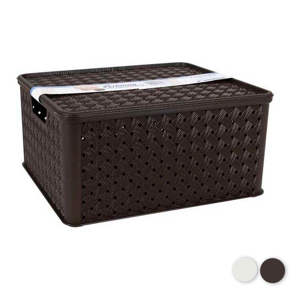 Storage Box with Lid Tontarelli 13 L Plastic (33 X 29 x 16 cm)