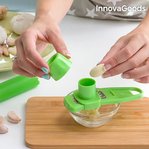 InnovaGoods Garlic Peeler and Shredder